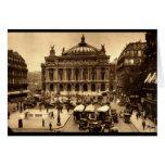 Place de l'Opera, Paris France c1925 Vintage Greeting Card