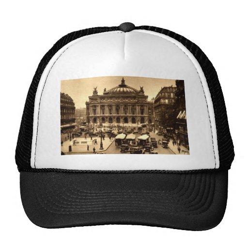 Place de l'Opera, Paris France c1925 Vintage Mesh Hat