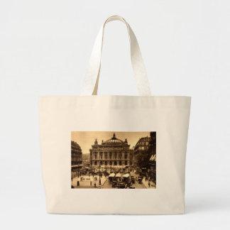 Place de l'Opera, Paris France c1925 Vintage Jumbo Tote Bag