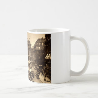 Place de l'Opera, Paris France c1925 Vintage Mug