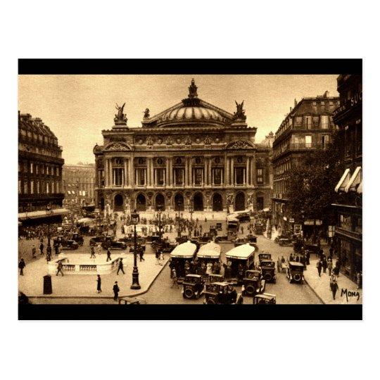 Place de l'Opera, Paris France c1925 Vintage Postcard
