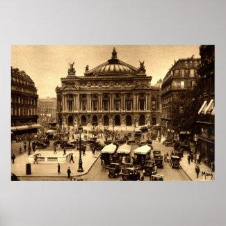 Place de l'Opera, Paris France c1925 Vintage print