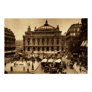 Place de l'Opera, Paris France c1925 Vintage Poster