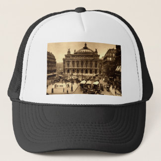 Place de l'Opera, Paris France c1925 Vintage Trucker Hat