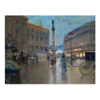 Place de L'Opera, Paris Postcard