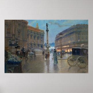Place de L'Opera, Paris Poster