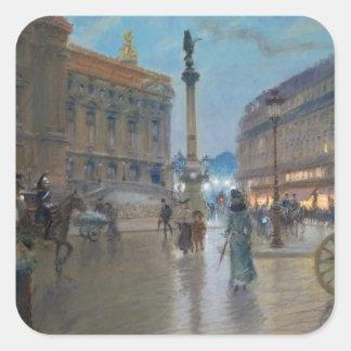 Place de L'Opera, Paris Square Sticker