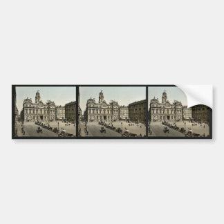 Place de Terreaux, Lyons, France classic Photochro Car Bumper Sticker