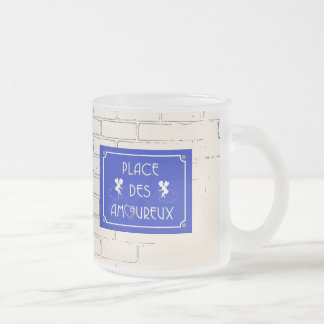 Place des Amoureux Frosted Glass Coffee Mug