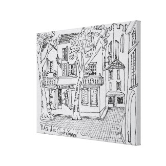 Place des Chataignes | Avignon, France Canvas Print