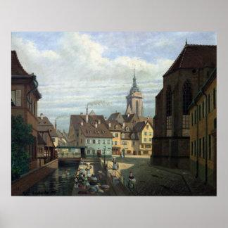 Place des Dominicains, Colmar, 1876 Poster