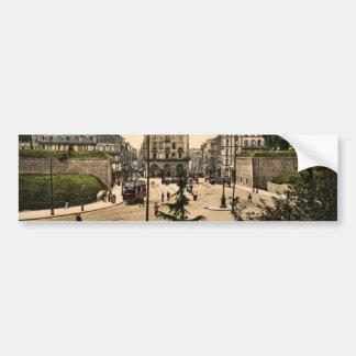 Place des Portes, Brest, France classic Photochrom Car Bumper Sticker