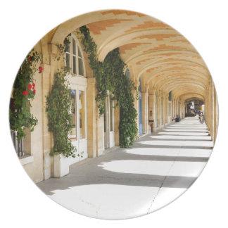 Place des Vosges in Paris, France Plate