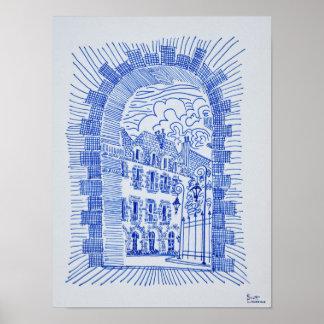 Place des Vosges | Marais, Paris, France Poster