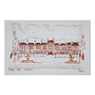 Place des Vosges | Marais, Paris Poster