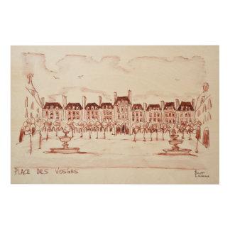 Place des Vosges | Marais, Paris Wood Wall Decor
