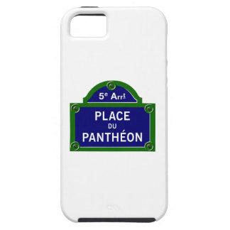 Place du Pantheon, placa de calle de París iPhone 5 Cárcasa