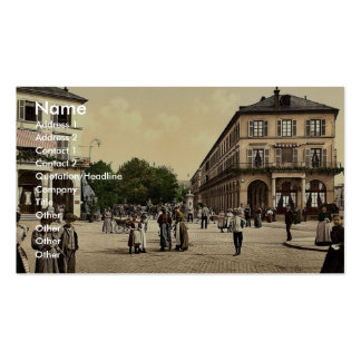 Place du Quartier Neff, Mulhausen, la Alsacia-Lore Tarjetas De Visita