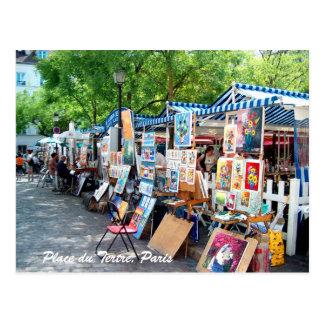 Place du Tertre, Paris Postcard