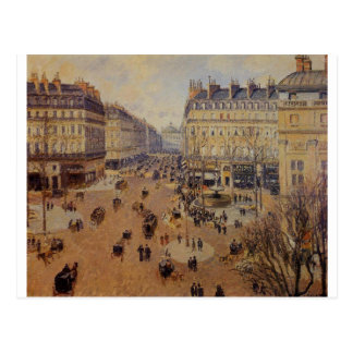 Place du Theatre Francais, Afternoon Sun in Winter Postcard
