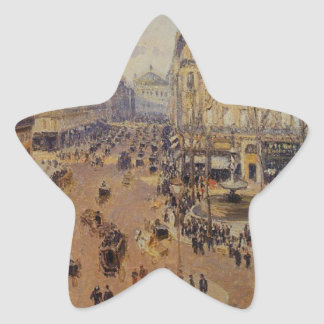 Place du Theatre Francais, Afternoon Sun in Winter Star Sticker