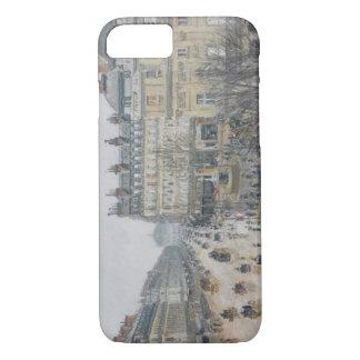 Place du Theatre Francais, París: Lluvia, 1898 Funda iPhone 7