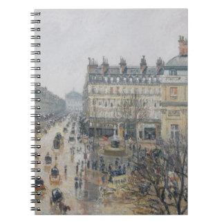 Place du Theatre Francais, París: Lluvia, 1898 Libreta Espiral