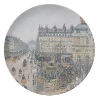 Place du Theatre Francais, París: Lluvia, 1898 Platos