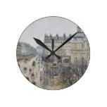 Place du Theatre Francais, París: Lluvia, 1898 Relojes De Pared
