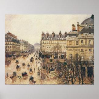 Place du Theatre Francais, París: Lluvia por Póster