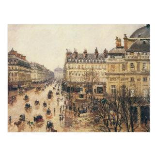 Place du Theatre Francais, París: Lluvia por Postal