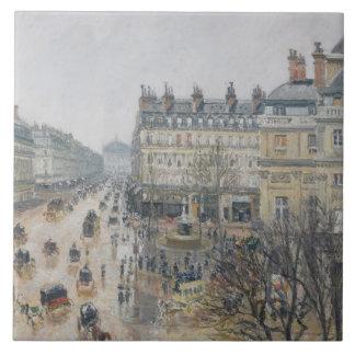 Place du Theatre Francais, Paris: Rain, 1898 Ceramic Tile