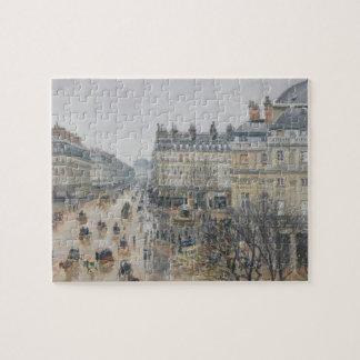 Place du Theatre Francais, Paris: Rain, 1898 Puzzle