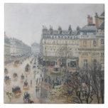 Place du Theatre Francais, Paris: Rain, 1898 Large Square Tile