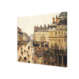Place du Theatre Francais, Paris Rain by Pissarro Canvas Print