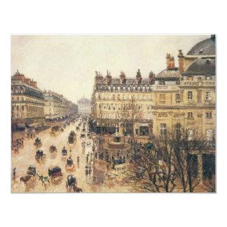 Place du Theatre Francais, Paris: Rain by Pissarro Personalized Invite