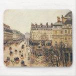 Place du Theatre Francais, Paris: Rain by Pissarro Mouse Pad