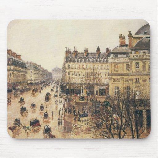 Place du Theatre Francais, Paris: Rain by Pissarro Mousepad
