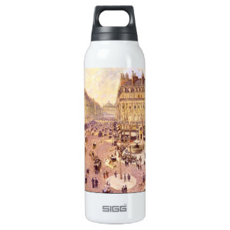 Place du Theatre Francais, Soleil by Pissaro 16 Oz Insulated SIGG Thermos Water Bottle