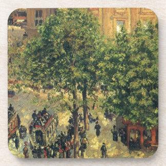 Place du Theatre-Francais, Spring Camille Pissarro Beverage Coaster