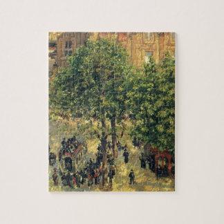 Place du Theatre-Francais, Spring Camille Pissarro Jigsaw Puzzle