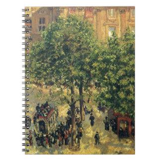 Place du Theatre-Francais, Spring Camille Pissarro Spiral Notebook