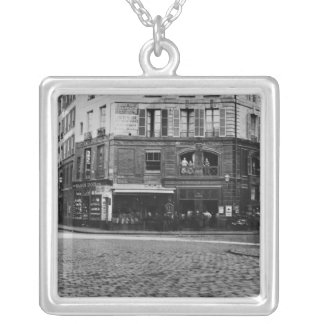 Place Gozlin, Paris c.1865 Silver Plated Necklace