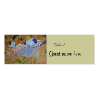 Place holder mini business card