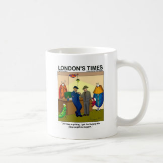 Place Is Bugged Funny Police Gifts & Tees Classic White Coffee Mug