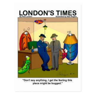 Place Is Bugged Funny Police Gifts & Tees Postcard