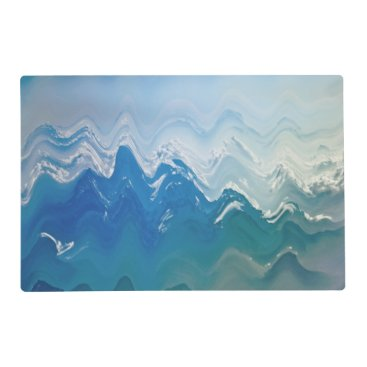 place mat Abstract sea  beach waves blue