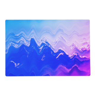 place mat Abstract sea  beach waves blue purple