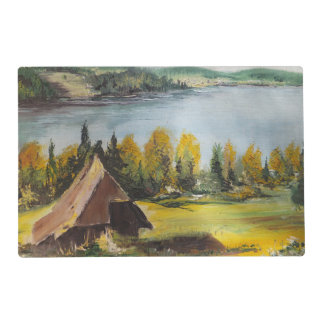 Place Mat Ann Hayes Painting Chalet On The Lake