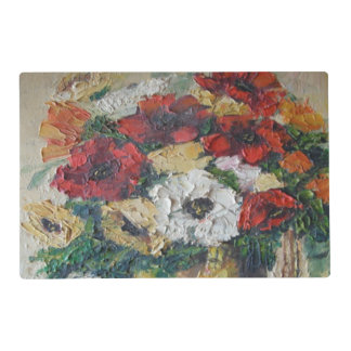 Place Mat Ann Hayes Painting Flower Mix Delight